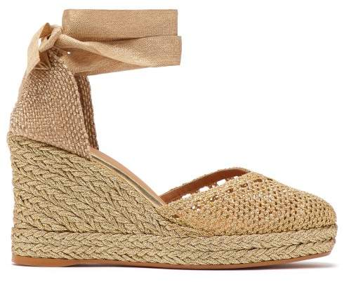9b431c1d3fa Carrie 60 Metallic Jute Espadrille Platform Wedges - Womens - Gold