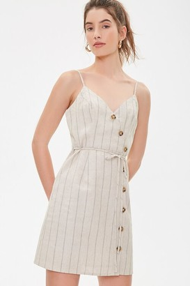 Forever 21 Striped Linen Cami Dress