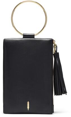 THACKER Nolita Ring Handle Leather Clutch