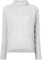 Vince roll neck cable knit jumper