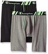 Champion Men's Tech Performance Long Boxer Brief Black/Dynamic