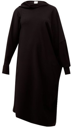 Hillier Bartley Pillowcase Asymmetric Crepe Dress - Black