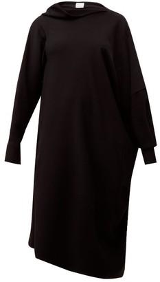 Hillier Bartley Pillowcase Asymmetric Crepe Dress - Womens - Black
