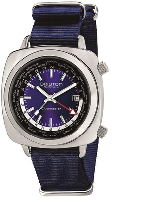 Briston Clubmaster Traveler Worldtime Gmt Automatic, Steel, Navy Blue Dial And Nato Strap LIMITED EDITION
