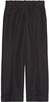 Gucci Straight-Leg Cropped Trousers