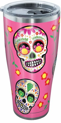 Tervis Sugar Skulls Stainless Steel Tumbler with Clear and Black Hammer Lid 30oz