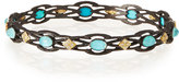 Armenta Old World Open Scroll Cravelli Bangle with Turquoise