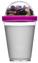 Sagaform Polysthyrene Plastic Yoghurt Cup with Storage, Pink