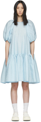 Cecilie Bahnsen Blue Silk Alexa Dress