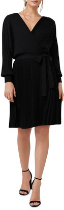 Ever New Cindy Long-Sleeve Pleat Dress