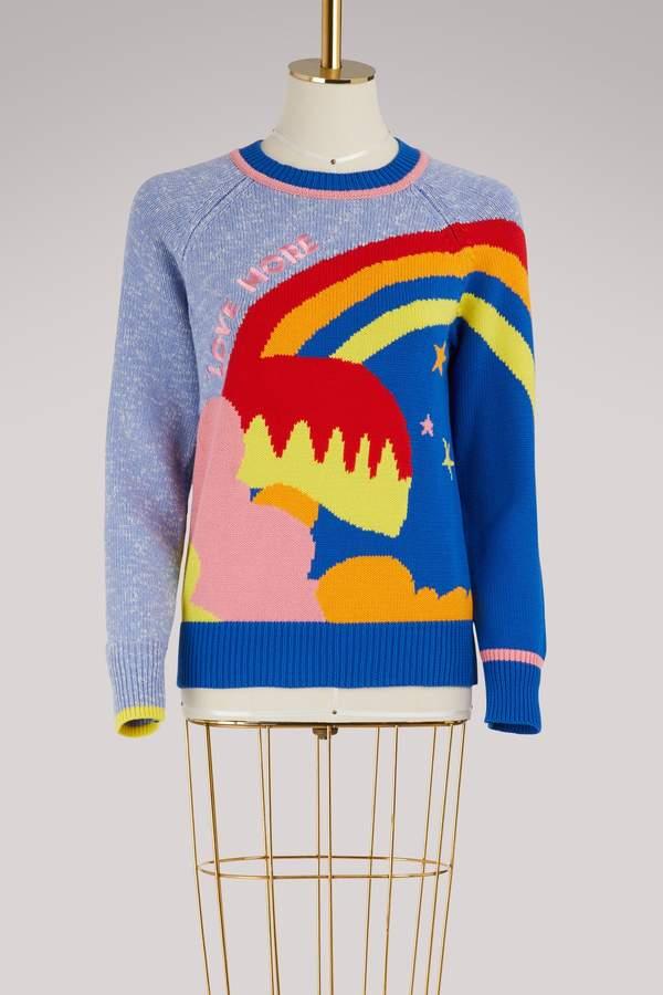 Mira Mikati Love More cotton and cashmere sweater