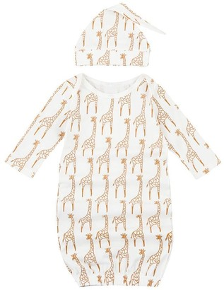 Clode Baby Sleepwear Sets 2pcs Newborn Infant Kids Baby Girls Boys Giraffe Pajamas Gown+Hat Outfits Clothes Set (0-6 Months