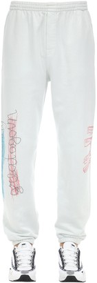 Klsh   Kids Love Stain Hands Printed Cotton Sweatpants
