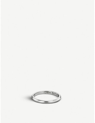 De Beers Classic platinum and diamond wedding band, Size: 48mm