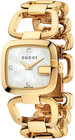 gucci watch womens swiss ggucci diamond accent yellow gold pvd stainless steel bracelet 24x22mm ya125513