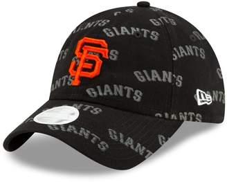 New Era Women's Black San Francisco Giants Worded 9TWENTY Adjustable Hat