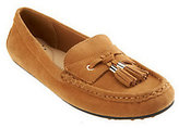 As Is Isaac Mizrahi Live! Suede Moccasins with Tassel Detail