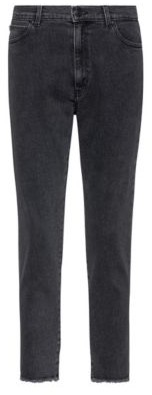 HUGO STELLA slim-fit high-waisted jeans with open hems