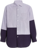 Engineered Garments Contrast Panel Cotton Shirt