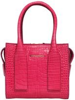 DSQUARED2 Twin Peaks Croc Embossed Leather Bag
