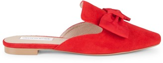 Saks Fifth Avenue Bow Suede Mules