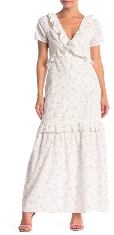 BCBGeneration Cascade Ruffle Maxi Dress