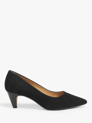John Lewis & Partners Alley Nubuck Pointed Stiletto Heel Court Shoes