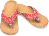 Spenco Red Floral Yumi Canvas Flip-Flop - Women