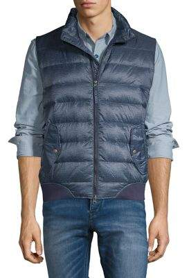 Black & Brown Black Brown Quilted Down & Feather Puffer Vest