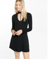 Express cut-out trapeze choker dress