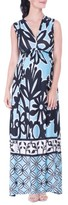 Olian Women's Kimi And Kai Print Maternity Maxi Dress