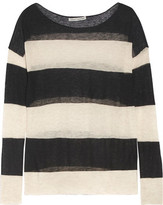 Autumn Cashmere Striped Slub Cashmere Sweater