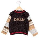 Dolce & Gabbana Boys' Logo-Patterned Rib Knit Sweater