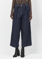 Dries Van Noten indigo phoebe crop