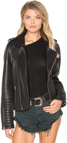 Maison Scotch Biker Leather Jacket