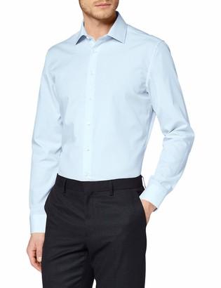 Seidensticker Men's Einfarbiges Schickes Hemd Mit Extra Tragekomfort Und Kent-Kragen Slim Fit Langarm Formal Shirt