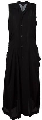 Comme Des Garçons Pre Owned Long Frayed Edge Dress