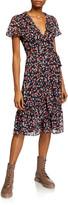 MICHAEL Michael Kors Floral Short-Sleeve Wrap Dress