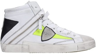 Philippe Model Bike X Sneakers In White Suede And Leather