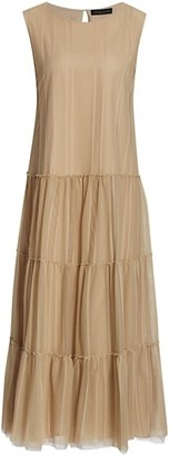 Fabiana Filippi Lace Mesh Long Dress