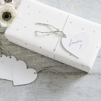 The White Company Heart Gift Tags - Set of 10, White, One Size