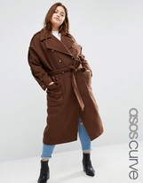Asos Wool Trench Coat with Eppaulette