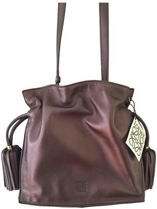 Loewe Flamenco Metallic Leather Handbags
