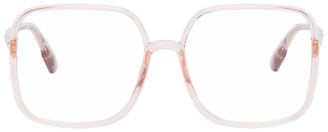 Christian Dior Pink Transparent Oversized SOSTELLAIRE01 Glasses