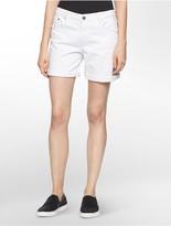 Calvin Klein Distressed Boyfriend Denim Shorts