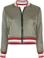 GUILD PRIME stripe bomber jacket