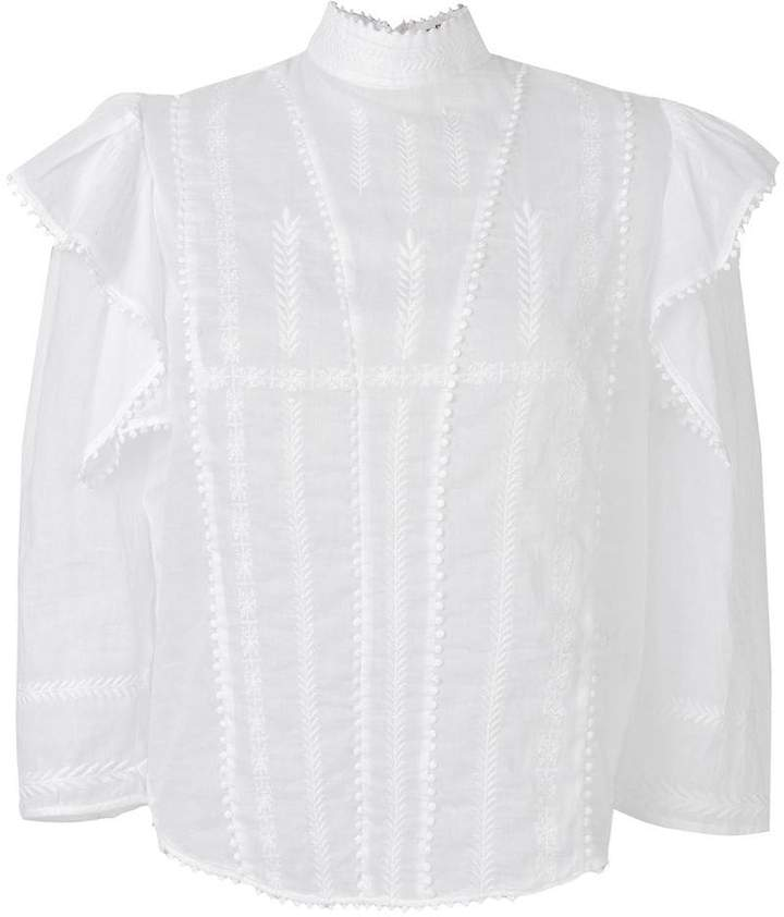 Etoile Isabel Marant embroidered ruffle blouse