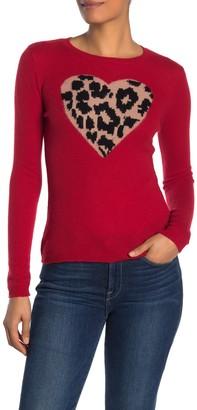 Leopard Heart Cashmere Sweater