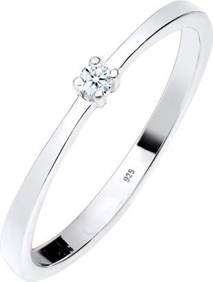Diamore Women Engagement Ring 925 Sterling Silver Diamond White 0.03ct 0605960213_56