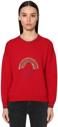 Giada Benincasa Merino Wool & Lurex Knit Sweater
